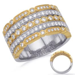 S. Kashi Yellow & White Gold Diamond Fashion Ring (D4732YW)