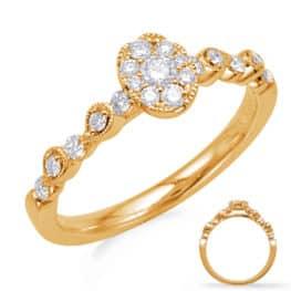 S. Kashi Yellow Gold Diamond Fashion Ring (D4738YG)