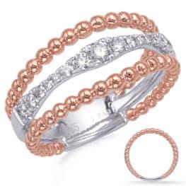 S. Kashi Rose & White Gold Diamond Fashion Ring (D4739RW)