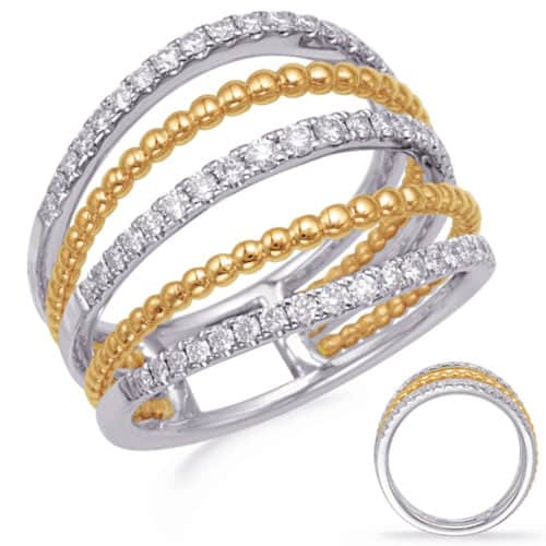 S. Kashi Yellow & White Gold Diamond Fashion Ring (D4741YW)