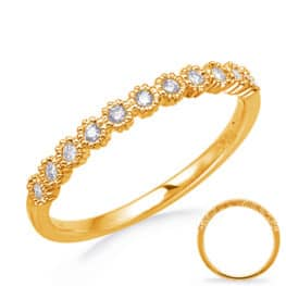 S. Kashi Yellow Gold Stackable Band (D4743YG)