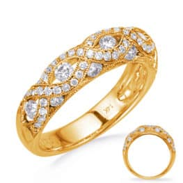 S. Kashi Yellow Gold Diamond Fashion Band (D4745YG)