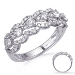 S. Kashi White Gold Diamond Fashion Ring (D4748WG)