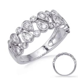 S. Kashi White Gold Diamond Fashion Ring (D4751WG)