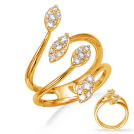 S. Kashi Yellow Gold Diamond Fashion Ring (D4761YG)