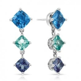 Belle etoile Destiny Blue Earrings