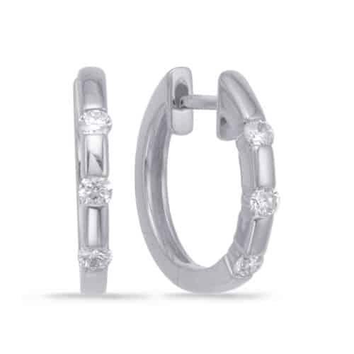 S. Kashi White Gold Huggie Earring (E7543WG)