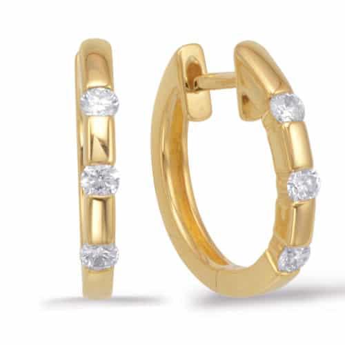 S. Kashi Yellow Gold Huggie Earring (E7543YG)
