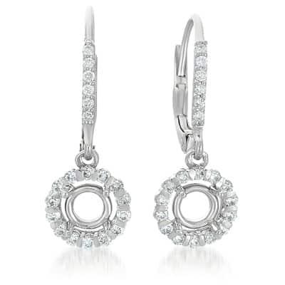 S. Kashi White Gold Earrings. For 2 x 50 Ptrs (E7727-1WG)