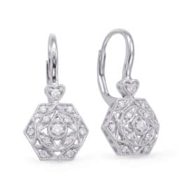 S. Kashi White Gold Diamond Earring (E7912WG)