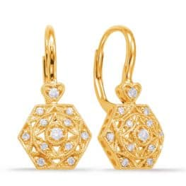 S. Kashi Yellow Gold Diamond Earring (E7912YG)