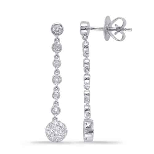 S. Kashi White Gold Diamond Earring (E7942WG)