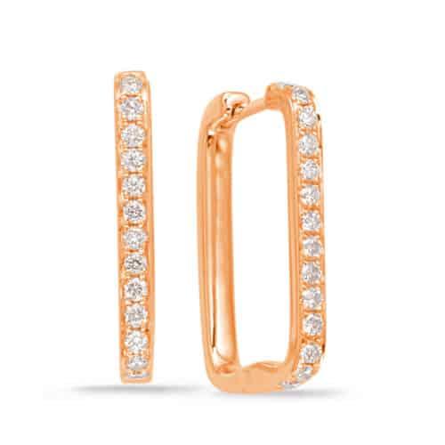 S. Kashi Rose Gold Diamond Hoop Earring (E7943RG)