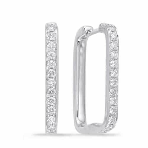 S. Kashi White Gold Diamond Hoop Earring (E7943WG)