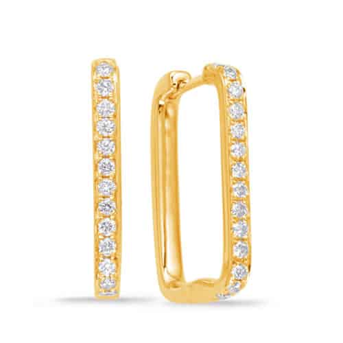S. Kashi Yellow Gold Diamond Hoop Earring (E7943YG)
