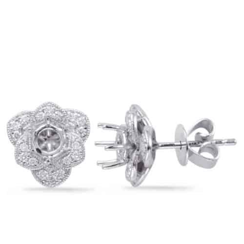 S. Kashi White Gold Diamond Earring for .50cttw (E7947-50WG)