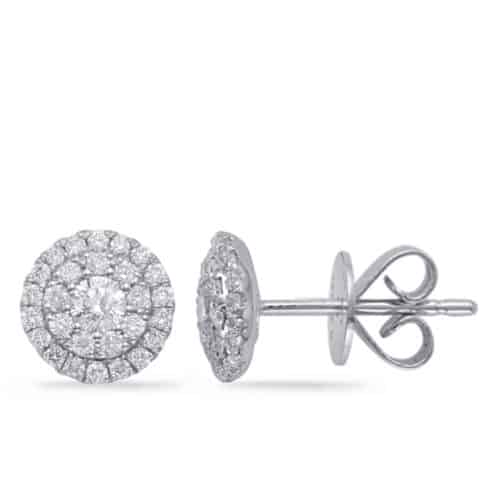 S. Kashi White Gold Diamond Earring (E7965WG)