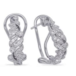 S. Kashi White Gold Diamond Earring (E7996WG)