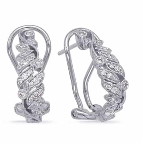 S. Kashi White Gold Diamond Earring (E7996WG)
