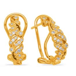 S. Kashi Yellow Gold Diamond Earring (E7996YG)
