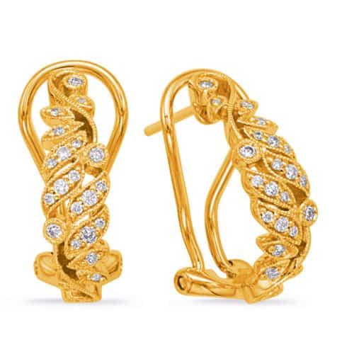 S. Kashi Yellow Gold Diamond Earring (E7996YG)