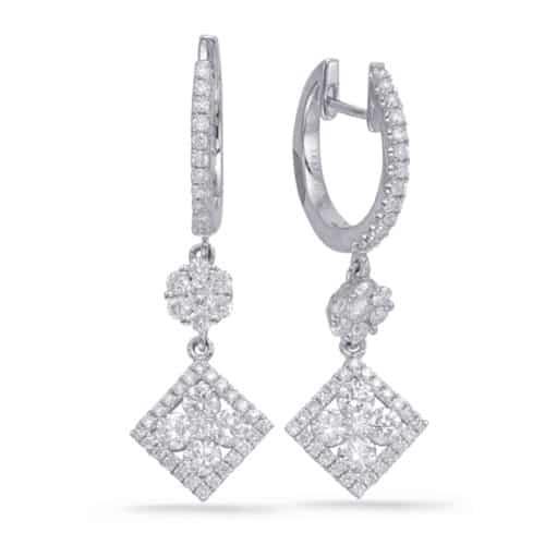 S. Kashi White Gold Diamond Earring (E7997WG)