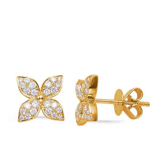 S. Kashi Yellow Gold Diamond Earring (E7998YG)