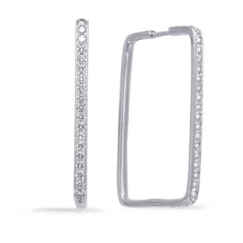 S. Kashi White Gold Diamond Hoop Earring (E7999WG)