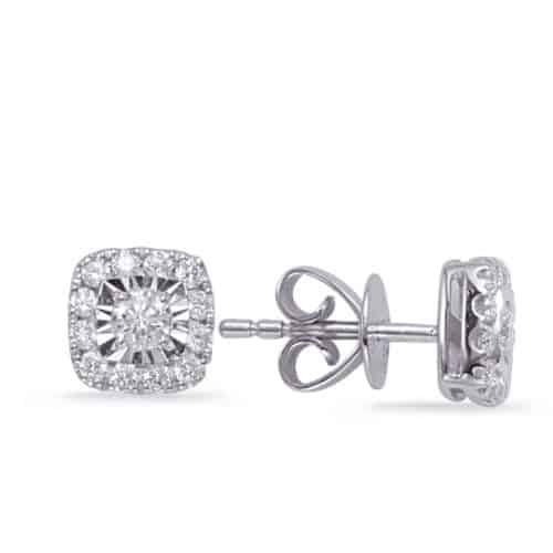 S. Kashi White Gold Diamond Earring (E8001WG)