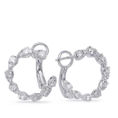 S. Kashi White Gold Diamond Earring (E8002WG)