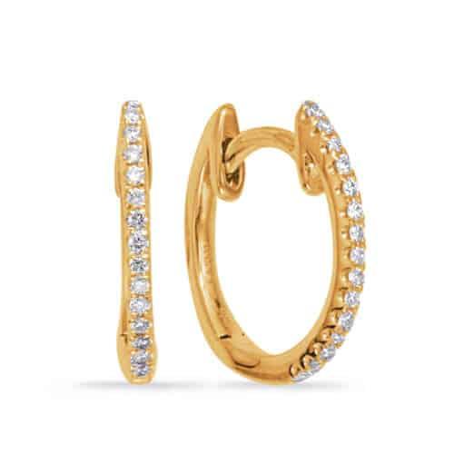 S. Kashi Yellow Gold Huggie Earring (E8003YG)