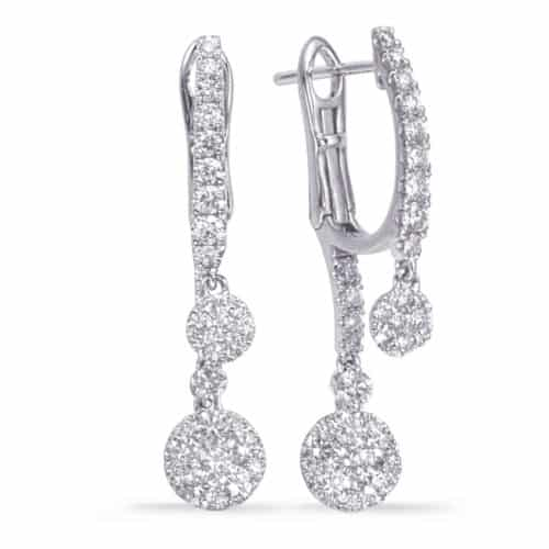 S. Kashi White Gold Diamond Hoop Earring (E8009WG)