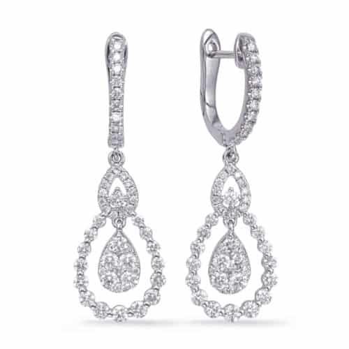 S. Kashi White Gold Diamond Fashion Earring (E8011WG)