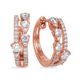 S. Kashi Rose Gold Diamond Earring (E8013RG)