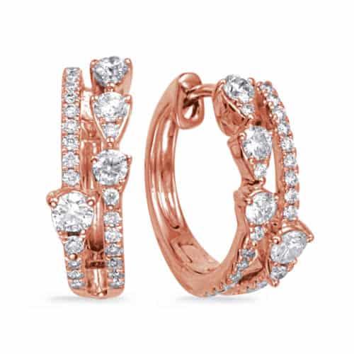 S. Kashi Rose Gold Diamond Earring (E8013RG)
