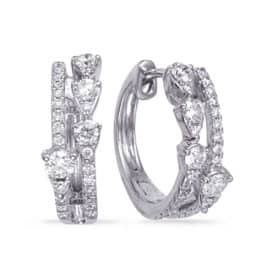 S. Kashi White Gold Diamond Earring (E8013WG)