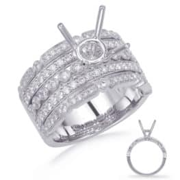 S. Kashi White Gold Engagement Ring (EN4732-15WG)