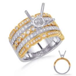 S. Kashi Yellow & White Gold Diamond Engage. Ring (EN4732-15YW)