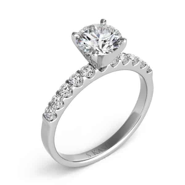 S. Kashi & Sons 1 Ct Round Diamond Engagement Ring.