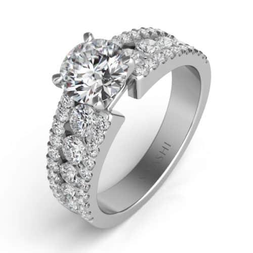 S. Kashi White Gold Engagement Ring (EN7008WG)
