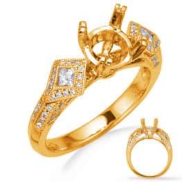 S. Kashi Yellow Gold Diamond Engagement Ring (EN7135-1RDYG)