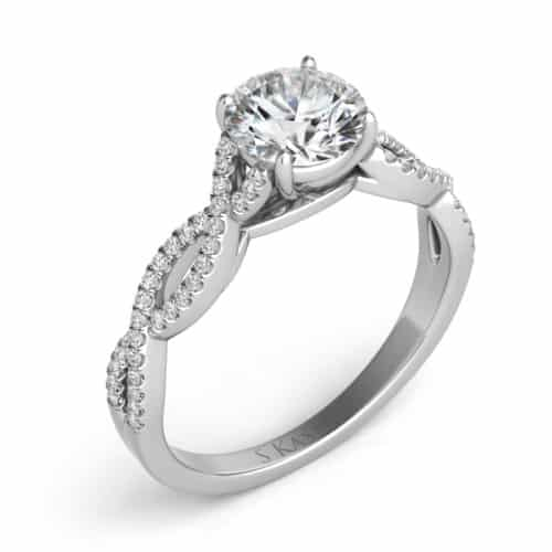 S. Kashi White Gold Engagement Ring (EN7325-50WG)