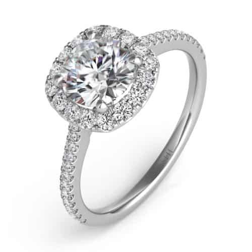S. Kashi White Gold Halo Engagement Ring (EN7508-75WG)