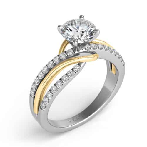 S. Kashi Yellow & White Gold Engagement Ring (EN7533-1YW)