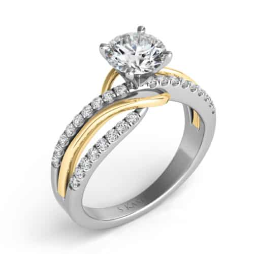 S. Kashi Yellow & White Gold Engagement Ring (EN7533-75YW)