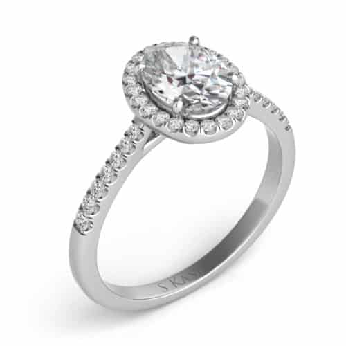 S. Kashi White Gold Halo Engagement Ring (EN7543-9X7MWG)