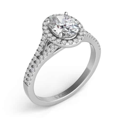S. Kashi White Gold Oval Engagement Ring (EN7555-7X5MWG)