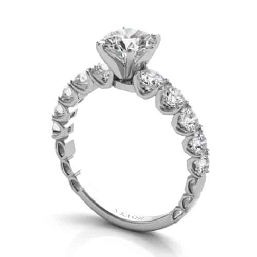 S. Kashi White Gold Engagement Ring (EN7583WG)