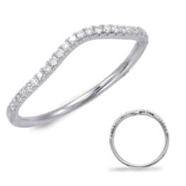 S. Kashi White Gold Wedding Band (EN7592-BWG)
