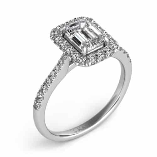 S. Kashi White Gold Engagement Ring (EN7597-7X5MWG)